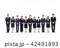 チーム 笑顔 会社員の写真 42491893