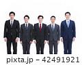 ビジネスマン チーム 笑顔の写真 42491921
