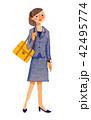 リクルートスーツの女性 42495774