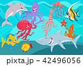 マンガ サカナ 魚のイラスト 42496056