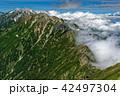 鹿島槍ヶ岳から見る雲湧く五竜岳・白馬岳方面 42497304