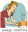 キッチン 台所 女のイラスト 42497343