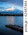 富士山 湖 景色の写真 42497464