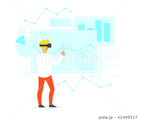 man in virtual reality glasses 42499557