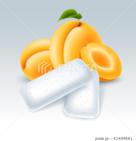Chewing gum with apricot flavor 42499661
