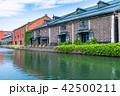 小樽 小樽運河 町並みの写真 42500211