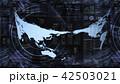 ビッグデータ 世界地図 グローバルのイラスト 42503021