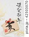 亥 絵馬 年賀状のイラスト 42503070