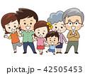 家族 三世代家族 6人家族のイラスト 42505453