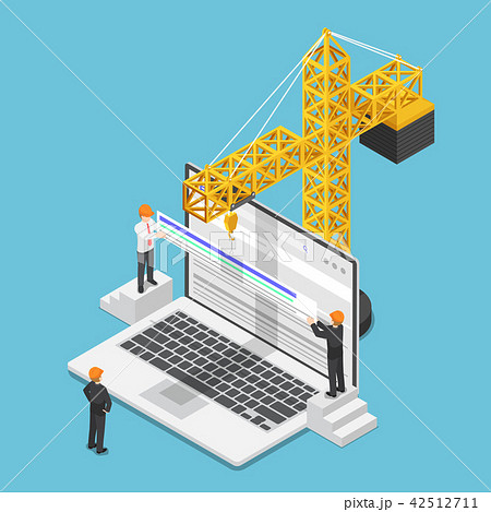 Businessman increase website rank on search engine 42512711