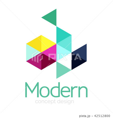Triangle shape design abstract business logo icon design. Company logotype branding emblem idea 42512800