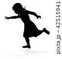 子供 人影 影のイラスト 42515941