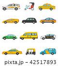 タクシー 空車 ベクトルのイラスト 42517893