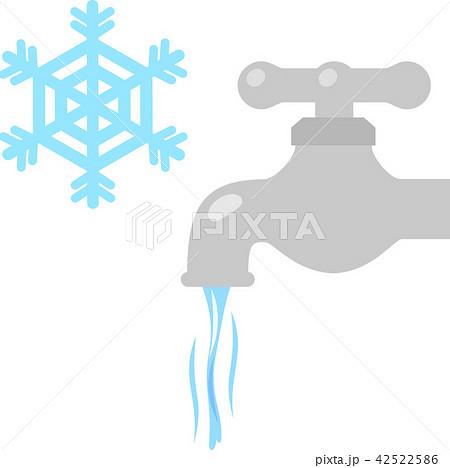 水を細く流している蛇口、凍結防止 42522586