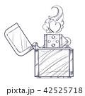 ライター ジッポー 火のイラスト 42525718
