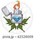 ライター 火 炎のイラスト 42526009