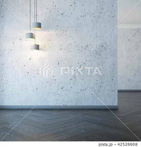 empty room with lights, 3d rendering 42526608