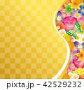 花 市松模様 和のイラスト 42529232