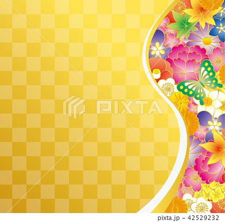 和風イメージ.花の背景素材. 42529232