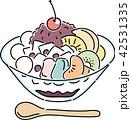 あんみつ 甘味 デザートのイラスト 42531335