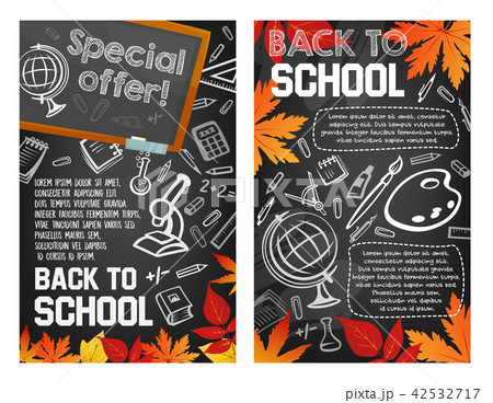 Back to School vector sale promo offer posters 42532717