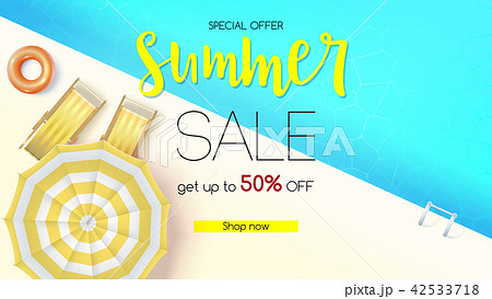 sales action summer offer get up to fiftyのイラスト素材 42533718