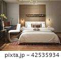 ベッド ベッドルーム 寝室のイラスト 42535934