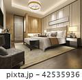 ベッド 寝台 寝床のイラスト 42535936