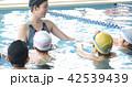 スイミング コーチと子供 42539439