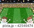 紙吹雪 スタジアム 客のイラスト 42540474