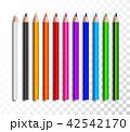 えんぴつ エンピツ 鉛筆のイラスト 42542170