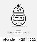 artificial intelligence icon design. 42544222