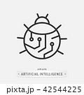 artificial intelligence icon design. 42544225