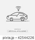 artificial intelligence icon design. 42544226