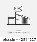 artificial intelligence icon design. 42544227