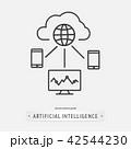 artificial intelligence icon design. 42544230
