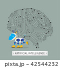 Robot with intelligence artificial concept. 42544232