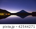 富士山 逆さ富士 精進湖の写真 42544271