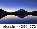 富士山 逆さ富士 精進湖の写真 42544272