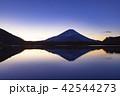 富士山 逆さ富士 精進湖の写真 42544273
