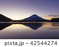 富士山 逆さ富士 精進湖の写真 42544274