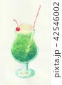 クリームソーダ メロンソーダ ジュースのイラスト 42546002