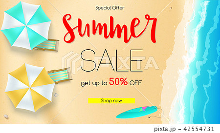 sales action summer offer get up to fiftyのイラスト素材 42554731