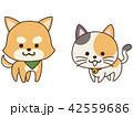 ペット 犬 猫のイラスト 42559686