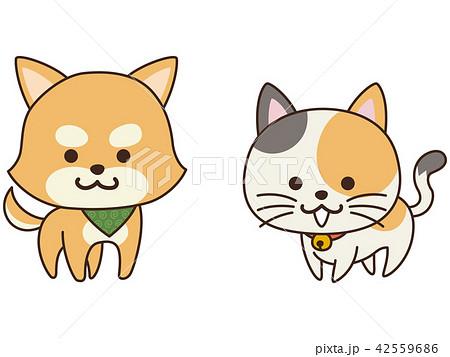 お利口なペットの犬と猫 42559686