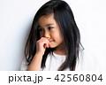 女の子 ポートレート 表情 42560804