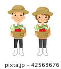 農家 農業 夫婦のイラスト 42563676
