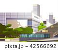都市景観 高層ビル群 超高層建築のイラスト 42566692