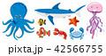 海 生き物 生物のイラスト 42566755