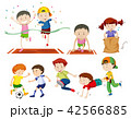 スポーツ 運動 組み合わせのイラスト 42566885